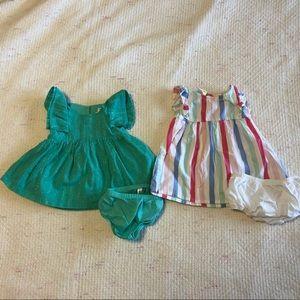 2 Newborn NB dresses Cat & Jack and Little Wonders